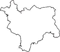 福島県西白河郡矢吹町(やぶきまち)の白地図無料ダウンロード