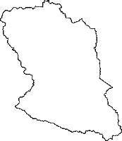福島県東白川郡鮫川村(さめがわむら)の白地図無料ダウンロード