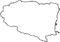 福島県双葉郡富岡町(とみおかまち)の白地図無料ダウンロード