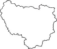 福島県双葉郡川内村(かわうちむら)の白地図無料ダウンロード