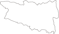 福島県双葉郡葛尾村(かつらおむら)の白地図無料ダウンロード