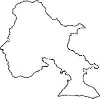 茨城県石岡市(いしおかし)の白地図無料ダウンロード