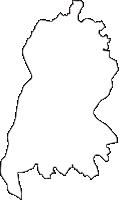茨城県結城市(ゆうきし)の白地図無料ダウンロード