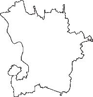 茨城県下妻市(しもつまし)の白地図無料ダウンロード