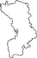 茨城県常総市(じょうそうし)の白地図無料ダウンロード