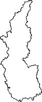 茨城県常陸太田市(ひたちおおたし)の白地図無料ダウンロード