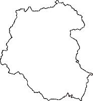 茨城県笠間市(かさまし)の白地図無料ダウンロード
