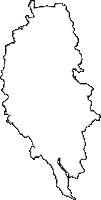 茨城県つくば市(つくばし)の白地図無料ダウンロード
