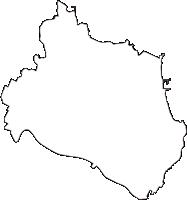 茨城県ひたちなか市(ひたちなかし)の白地図無料ダウンロード