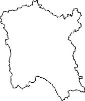 茨城県常陸大宮市(ひたちおおみやし)の白地図無料ダウンロード