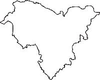茨城県那珂市(なかし)の白地図無料ダウンロード
