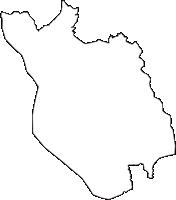 茨城県行方市(なめがたし)の白地図無料ダウンロード