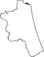 茨城県鉾田市(ほこたし)の白地図無料ダウンロード