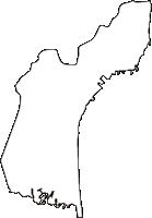 茨城県東茨城郡大洗町(おおあらいまち)の白地図無料ダウンロード