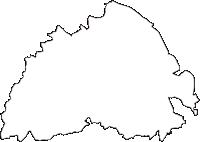 茨城県東茨城郡城里町(しろさとまち)の白地図無料ダウンロード