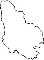 茨城県久慈郡大子町(だいごまち)の白地図無料ダウンロード