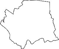 茨城県稲敷郡阿見町(あみまち)の白地図無料ダウンロード