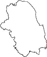 栃木県宇都宮市(うつのみやし)の白地図無料ダウンロード