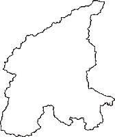 栃木県日光市(にっこうし)の白地図無料ダウンロード