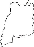 栃木県真岡市(もおかし)の白地図無料ダウンロード