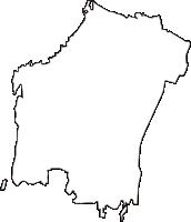 栃木県河内郡上三川町(かみのかわまち)の白地図無料ダウンロード