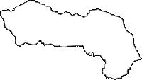栃木県上都賀郡西方町(にしかたまち)の白地図無料ダウンロード