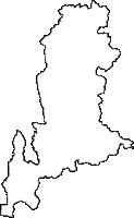 栃木県芳賀郡市貝町(いちかいまち)の白地図無料ダウンロード