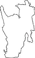 栃木県芳賀郡芳賀町(はがまち)の白地図無料ダウンロード
