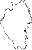 栃木県下都賀郡壬生町(みぶまち)の白地図無料ダウンロード