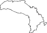 群馬県高崎市(たかさきし)の白地図無料ダウンロード