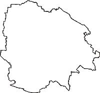 群馬県太田市(おおたし)の白地図無料ダウンロード