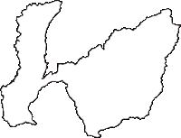 群馬県沼田市(ぬまたし)の白地図無料ダウンロード