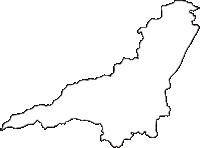 群馬県藤岡市(ふじおかし)の白地図無料ダウンロード