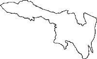 群馬県北群馬郡吉岡町(よしおかまち)の白地図無料ダウンロード
