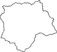 群馬県多野郡上野村(うえのむら)の白地図無料ダウンロード