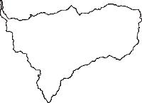 群馬県多野郡神流町(かんなまち)の白地図無料ダウンロード