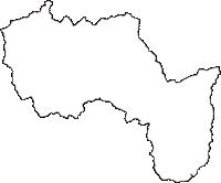 群馬県甘楽郡下仁田町(しもにたまち)の白地図無料ダウンロード
