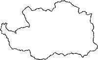群馬県甘楽郡南牧村(なんもくむら)の白地図無料ダウンロード