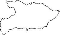 群馬県吾妻郡東吾妻町(ひがしあがつままち)の白地図無料ダウンロード