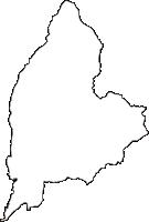 群馬県利根郡川場村(かわばむら)の白地図無料ダウンロード