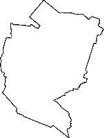 群馬県邑楽郡大泉町(おおいずみまち)の白地図無料ダウンロード