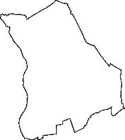 埼玉県さいたま市北区(きたく)の白地図無料ダウンロード