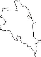 埼玉県さいたま市中央区(ちゅうおうく)の白地図無料ダウンロード