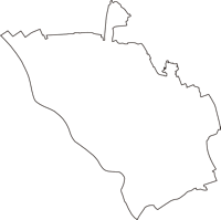 埼玉県さいたま市桜区(さくらく)の白地図無料ダウンロード