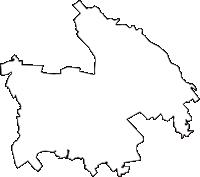 埼玉県さいたま市緑区(みどりく)の白地図無料ダウンロード