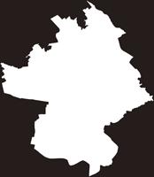 埼玉県川口市(かわぐちし)の白地図無料ダウンロード