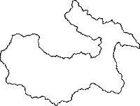 埼玉県秩父市(ちちぶし)の白地図無料ダウンロード