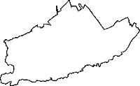 埼玉県所沢市(ところざわし)の白地図無料ダウンロード