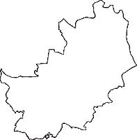 埼玉県加須市(かぞし)の白地図無料ダウンロード