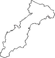 埼玉県本庄市(ほんじょうし)の白地図無料ダウンロード